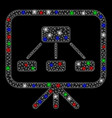 Bright mesh network scheme demonstration screen