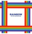 Bright rainbows frame white background vector image