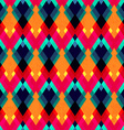 bright zigzag seamless pattern vector image vector image