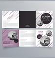 brochure design 510 vector image