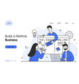 characters make business graphics tasks scheduling vector image