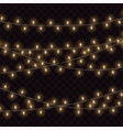 christmas glowing lights template for your design vector image vector image