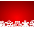 christmas red background with snowflakes and light vector image