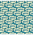 Cloud with inscription Boo seamless pattern vector image vector image