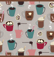 collection of hot cocoa and hot chocolate mugs vector image