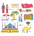 Country Turkey travel of goods places and vector image