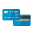 credit card isolated on whi vector image
