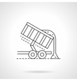 Crop unloading flat thin line icon vector image vector image