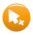 cursor failure icon orange vector image vector image