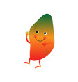 cute mango cheerful funny fruit cartoon character vector image vector image