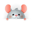 cute rat on board - chinese zodiac sign year ra vector image
