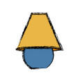 decorative lamp icon vector image vector image