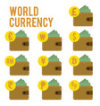 design flat world currency vector image