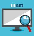 Desktop computer with big data icons
