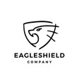 eagle shield doodle logo icon vector image