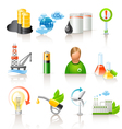 ecology and fuel icons vector image vector image