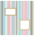 frames on striped wallpaper background vector image
