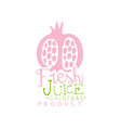 fresh juice original product logo template vector image vector image
