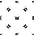 funicular pattern seamless black vector image vector image