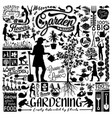 gardening flower and plant lover elements gardener vector image vector image