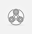 hand fidget spinner icon vector image vector image