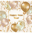 happy new year celebration background with gold vector image