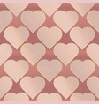 hearts color seamless pattern vector image vector image