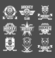 hockey logo set vector image