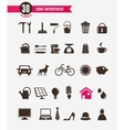 Home - icon set vector image vector image