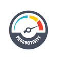 increase productivity icon vector image vector image