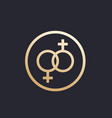 lesbian couple icon in circle vector image