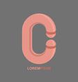 logo Letter C Alphabet design vector image