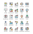 maps and navigations flat icons set vector image vector image