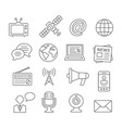 media line icons vector image