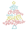 Merry Christmas and happy new yearhanddrawn vector image