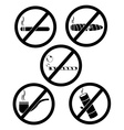 no smoking and tobacco vector image