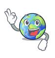okay earth above the sky the mascot vector image