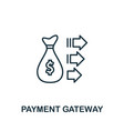 payment gateway outline icon thin line concept vector image vector image