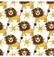 pink gold lion pattern with magic flower cartoon vector image