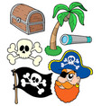pirate collection 2 vector image