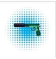 Pistol comics icon vector image vector image