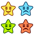 positive and negative faces of stars vector image vector image
