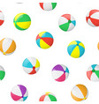 realistic detailed 3d beach ball seamless pattern vector image
