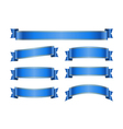 Ribbon blue banners set 1b vector image vector image