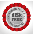Risk free design vector image vector image