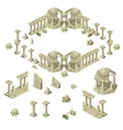 ruins city in ancient greek style vector image