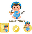 sagittarius collection zodiac signs vector image