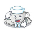 sailor coffee character cartoon style vector image vector image
