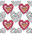 seamless pattern with decorative hearts for vector image vector image