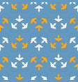 seamless pattern with orange and white leaves vector image